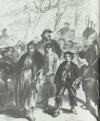Arrestation d'enfants en mai 1871
