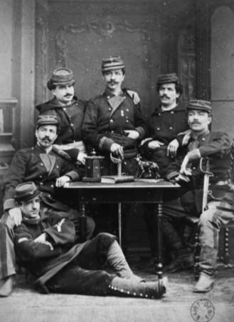 Auguste Adolphe Okolowicz (1838-1891) général de la Commune avec ses 5 frères