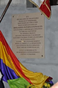 Plaque des Brigades Internationales