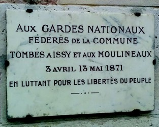 Plaque au Fort d'Issy